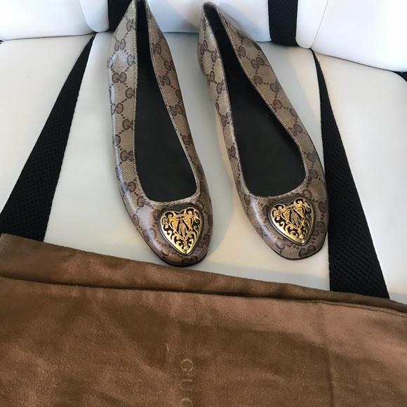 8bac642b8be0 Gucci Shoes - Gucci monogram ballerina flats ⚡️flash sale⚡️